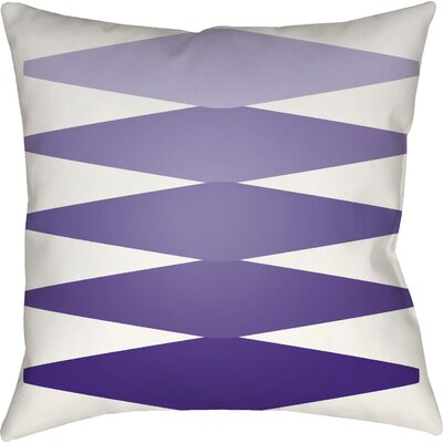 Wakefield Contemporary Indoor Throw Pillow Color: Purple, Size: 22 H �x 22 W x 5 D