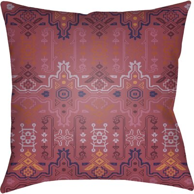 Libchava Square Throw Pillow Size: 18 H x 18 W x 4 D, Color: Red