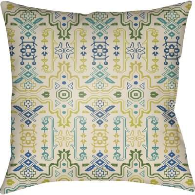 Libchava Square Throw Pillow Size: 20 H x 20 W x 4 D, Color: Lime