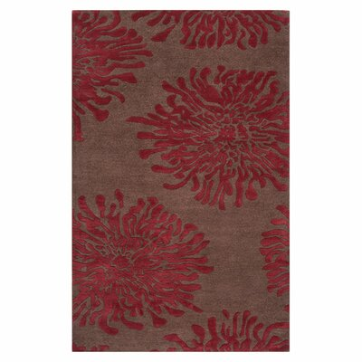 Parson Chocolate/Red Area Rug Rug Size: Rectangle 33 x 53