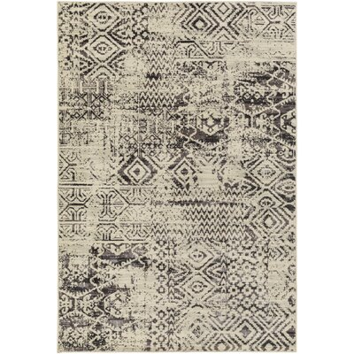 Puran Gray/Cream Area Rug Rug Size: 110 x 211