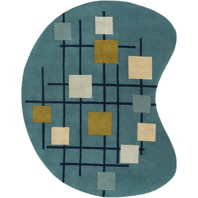 Dewald Hand-Tufted Teal Blue Area Rug Rug Size: Novelty 8 x 10