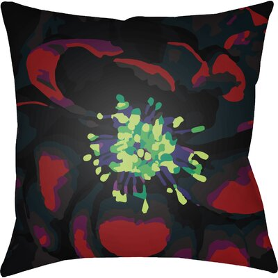 Virgil Indoor Throw Pillow Size: 18 H x 18 W x 4 D, Color: Red