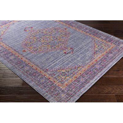 Almaraz Distressed Violet/Bright Purple Area Rug