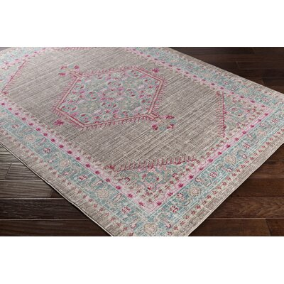 Almaraz Distressed Teal/Taupe Area Rug
