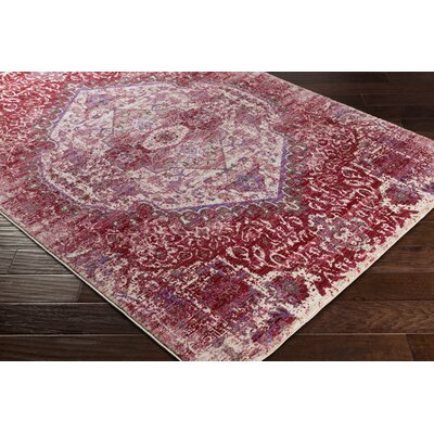 Almaraz Distressed Bright Pink/Bright Purple Area Rug