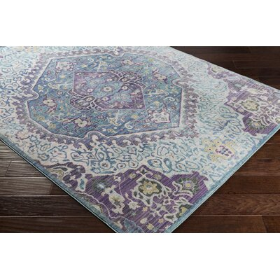 Almaraz Bright Purple/Pale Blue Area Rug