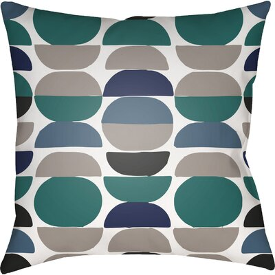 Wakefield Square Throw Pillow Color: Teal/Grey, Size: 22 H �x 22 W x 5 D
