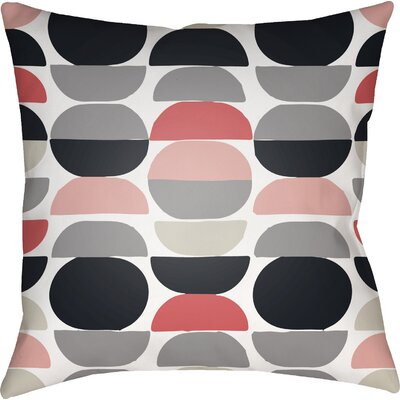 Wakefield Square Throw Pillow Color: Coral/Grey, Size: 20 H x 20 W x 4 D