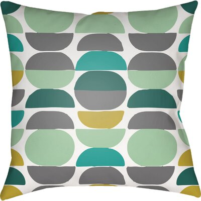 Wakefield Square Throw Pillow Color: Mint/Grey, Size: 22 H �x 22 W x 5 D