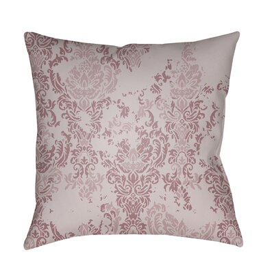 Moody Damask Distressed Outdoor Throw Pillow Color: Lilac