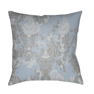Moody Damask Distressed Outdoor Throw Pillow Color: Aqua