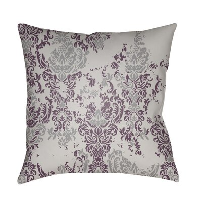 Moody Damask Distressed Outdoor Throw Pillow Color: Medium Gray