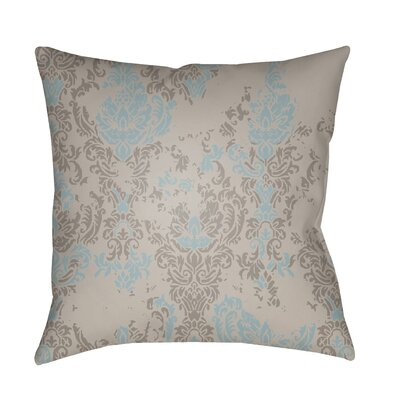 Moody Damask Distressed Outdoor Throw Pillow Color: Light Gray