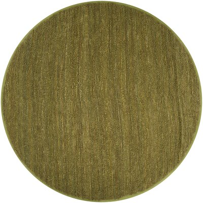 Bonnett Lime Green Area Rug Rug Size: Round 8