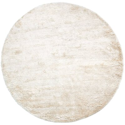 Gaston Hand Woven Wool Ivory Area Rug Rug Size: Round 8'