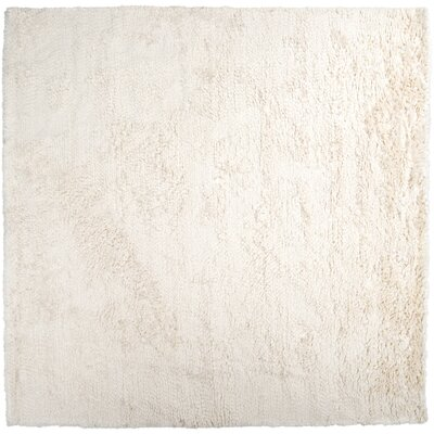 Gaston Hand Woven Wool Ivory Area Rug Rug Size: Square 8