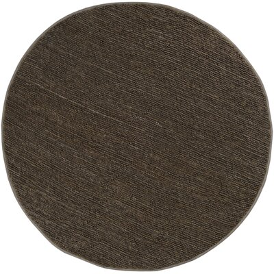 Bonnett Brown Area Rug Rug Size: Round 8