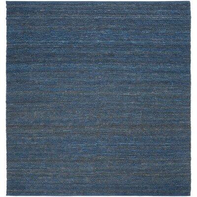 Bonnett Hand-Woven Blue Area Rug Rug Size: Square 8