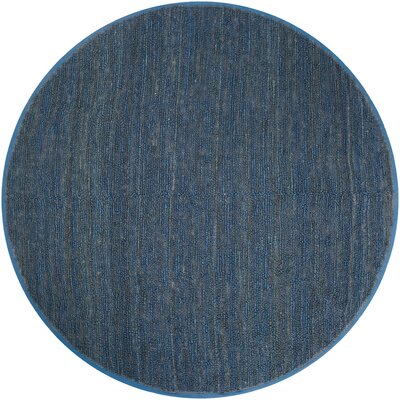 Bonnett Hand-Woven Blue Area Rug Rug Size: Round 8