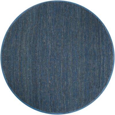 Bonnett Blue Area Rug Rug Size: Round 8