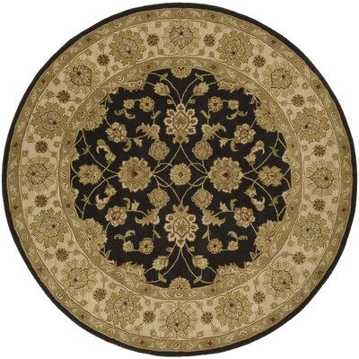 Stanford Charcoal Rug Rug Size: Round 8