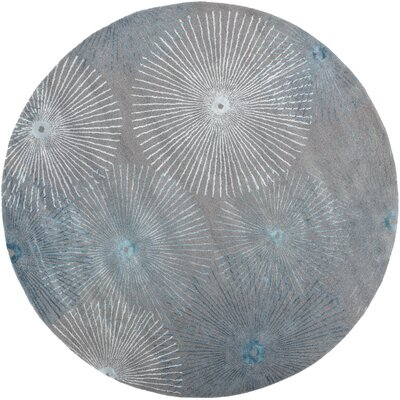 Halter Cameo Blue Area Rug Rug Size: Round 8