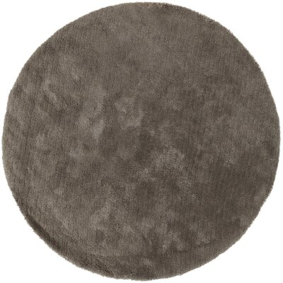 Braun Elephant Gray Solid Area Rug Rug Size: Round 8
