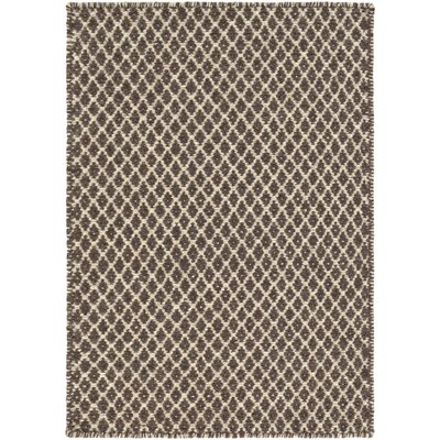Walton Dark Brown/Oatmeal Rug Rug Size: 33 x 53