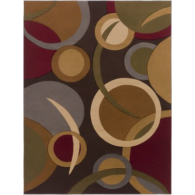 Maire Espresso Area Rug Rug Size: Rectangle 22 x 33