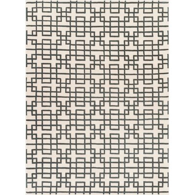 Jessenia Beige/Black Area Rug Rug Size: Rectangle 33 x 53