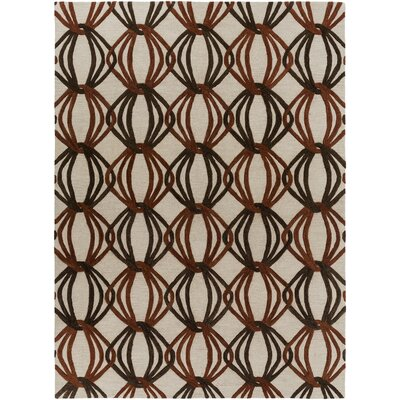 Stow Beige/Black Area Rug Rug Size: Rectangle 9 x 13