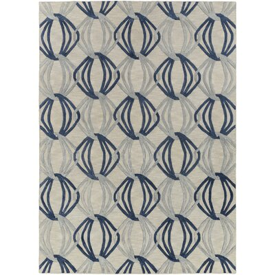 Stow Light Gray/Blue Area Rug Rug Size: Rectangle 33 x 53