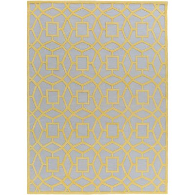 Lozano Silvered Gray/Yellow Area Rug Rug Size: 2 x 3