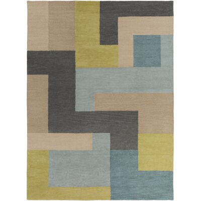 Sturbridge Midnight Green/Slate Gray Rug Rug Size: Rectangle 33 x 53