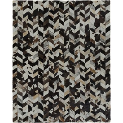 Horton Black/Gray Area Rug Rug Size: Rectangle 5 x 8