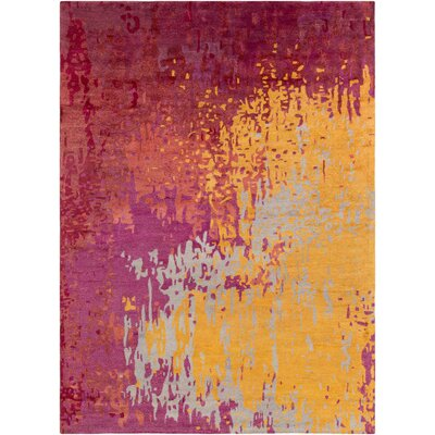 Johnna Hand-Tufted Burgundy/Gold Area Rug Rug Size: Rectangle 33 x 53