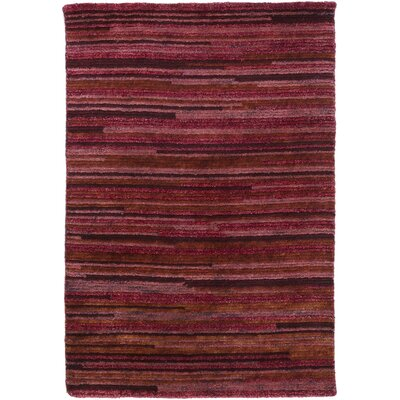 Alica Burgundy Striped Rug Rug Size: Rectangle 8 x 11