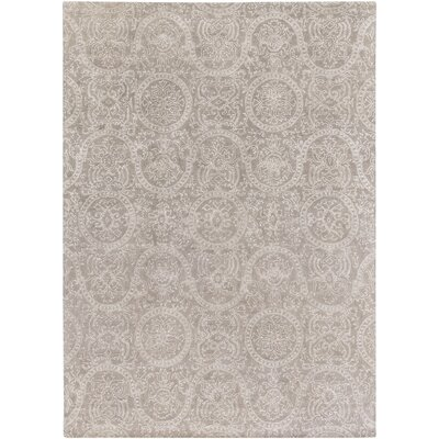 Alivia Light Gray Oriental Area Rug Rug Size: Rectangle 8 x 11