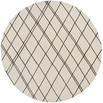 Starkey Beige/Brown Rug Rug Size: Round 8