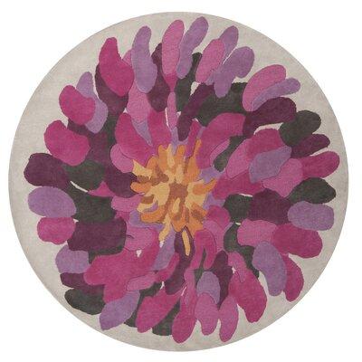 Parson Fuchsia Area Rug Rug Size: Round 8