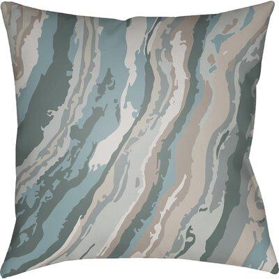 Konnor Square Throw Pillow Size: 18 H x 18 W x 4 D, Color: Blue