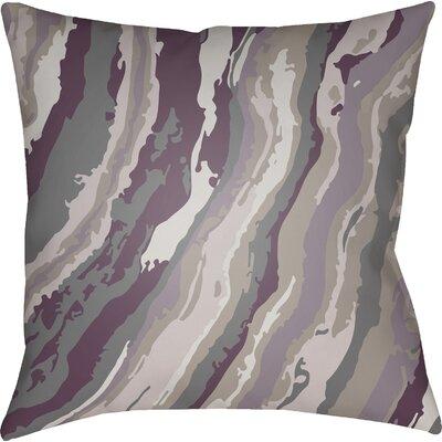 Konnor Square Throw Pillow Color: Purple, Size: 22 H �x 22 W x 5 D