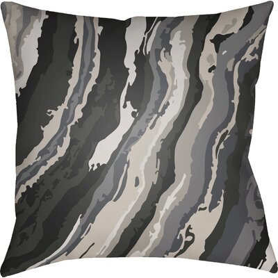 Konnor Square Throw Pillow Color: Grey, Size: 22 H �x 22 W x 5 D