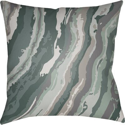 Konnor Square Throw Pillow Color: Green, Size: 22 H �x 22 W x 5 D
