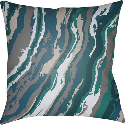 Konnor Square Throw Pillow Size: 18 H x 18 W x 4 D, Color: Teal