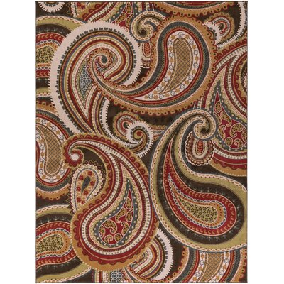 Mya Red Area Rug Rug Size: Rectangle 67 x 96