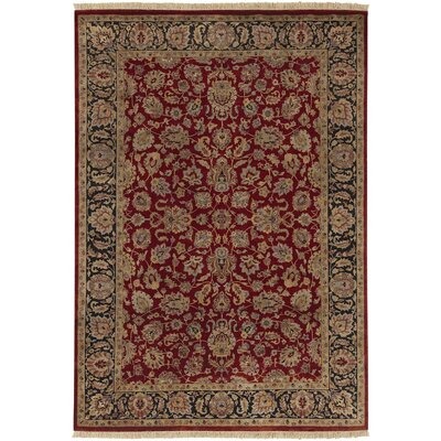 Attica Rust/Black Area Rug Rug Size: Rectangle 56 x 86