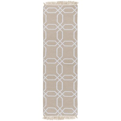 Larksville Ivory/Light Grey Area Rug Rug Size: Runner 26 x 8