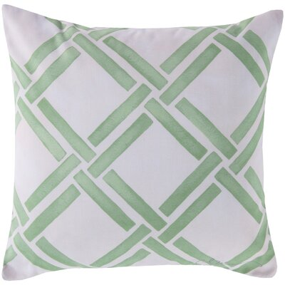 Leticia Overlap Throw Pillow Color: Green, Size: 20